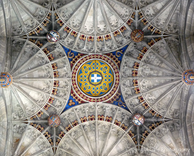 Canterbury Cathedral ceiling by Gale Photography