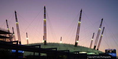 """O2 arena at dusk"" by Gale Photography"